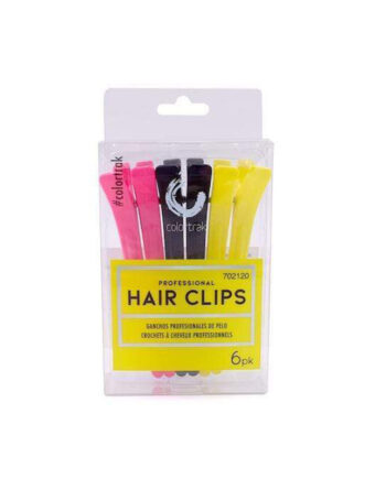 COLOR TRAK 6PK PROFESSIONAL HAIR CLIPS