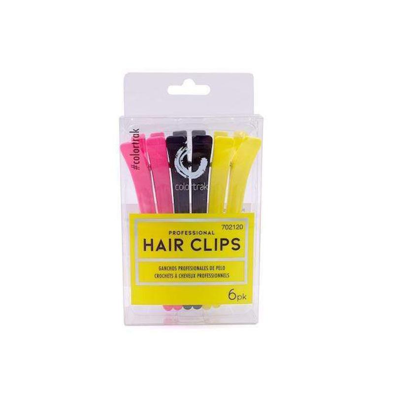 COLOR TRAK 6PK PROFESSIONAL HAIR CLIPS